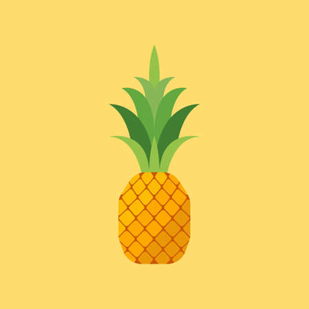 Pineapple in flat style.