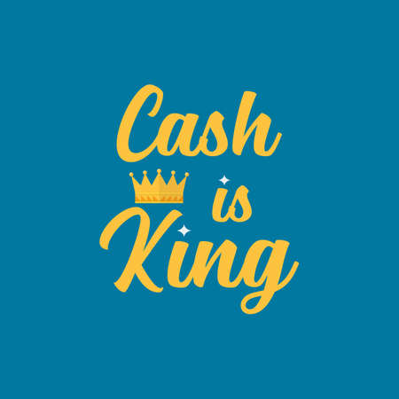 Cash is king typography. Vector illustration 向量圖像