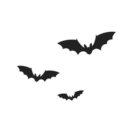 Bats isolated on white background. Vector illustration