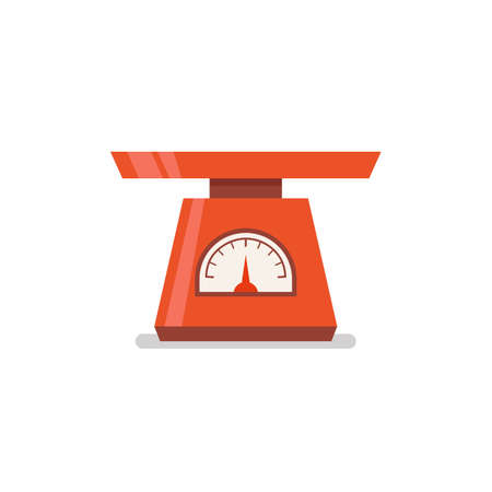 Domestic weigh scales flat icon. Vector illustration 向量圖像