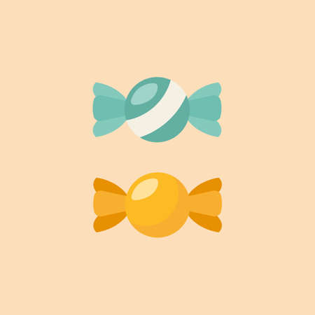 Candy Flat Icon. Isolated Vector illustration