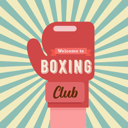 Welcome to Boxing club banner. vector illustration Illustration