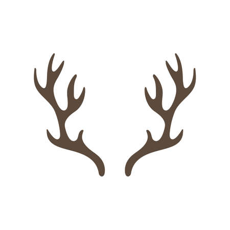 Reindeer antlers isolated on white background. vector illustration