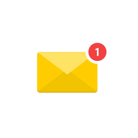 Notification bell icon. Message alert symbol. vector illustration
