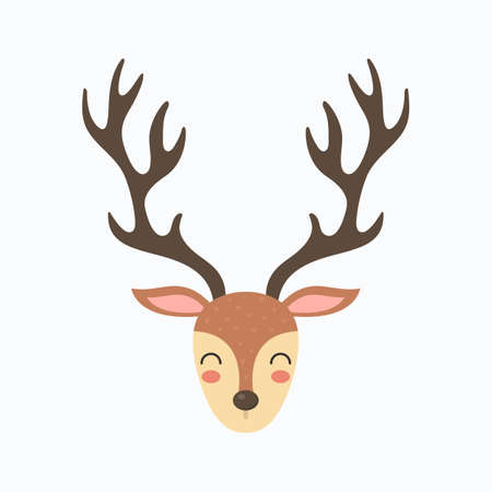 Christmas Reindeer vector illustration. Cute cartoon graphic design