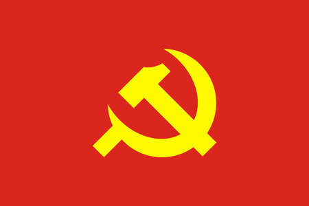 Flag of the Communist Party. Vector illustration