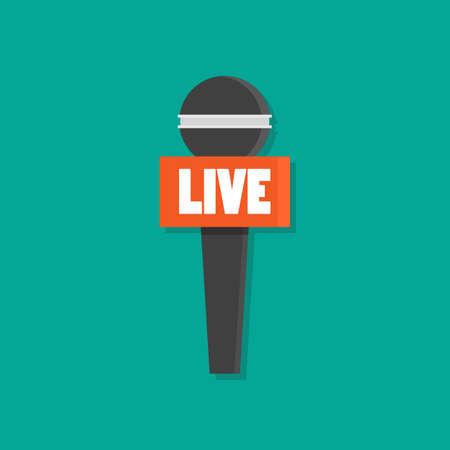 Microphone news flat style. Vector illustration 矢量图像