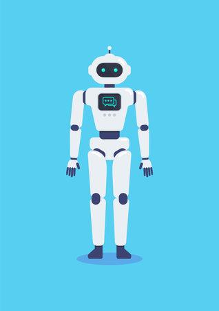 Android Robot Cyborg Technology. Vector Illustration. 矢量图像