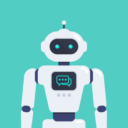 Android Robot vector illustration. Cyborg Technology.