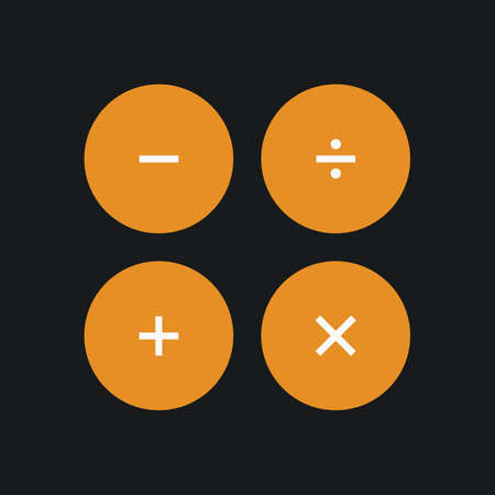Calculater interface buttons. Vector illustration