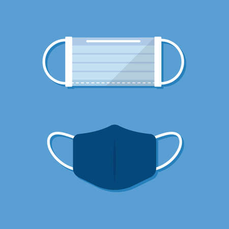 Protective cloth mask. Flat style Vector illustration Vectores