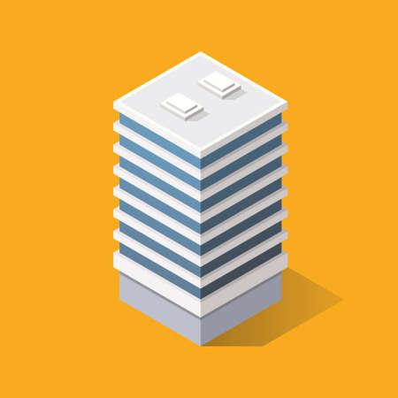 Isometric Modern Building. Vector illustration