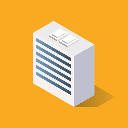 Isometric View of Building. Vector illustration
