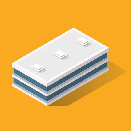 Building in Isometric Projection. Vector illustration Vectores