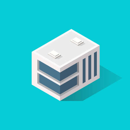 Building Icon Isometric Style. Vector illustration