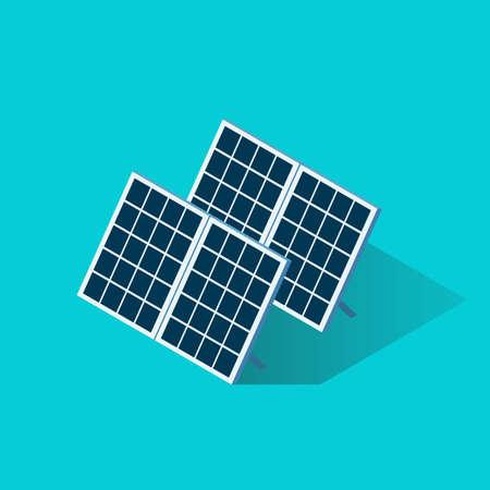 Isometric Solar Panel Icon. Vector illustration