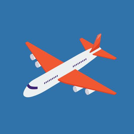 Airplane isometric illustration. Vector illustration