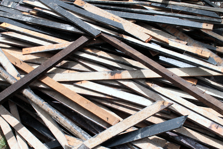 chamber: A scrap wood pile from chamber Stock Photo