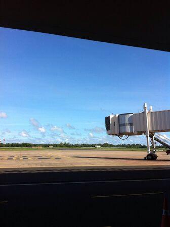 aero: Aero bridge in clear sky day in Ubon Ratchathani Thailand