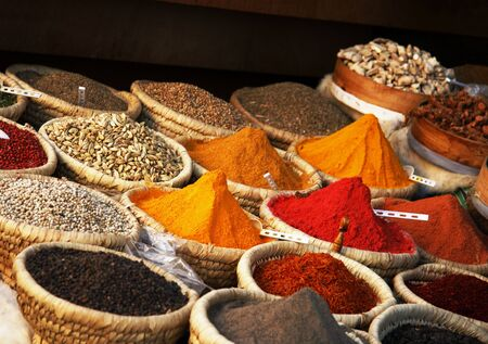 curry spices: Egyptian spice market
