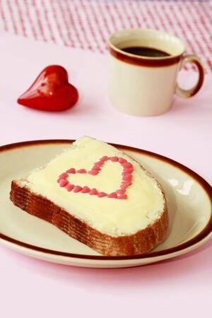 Breakfast at Valentine�s  Day photo