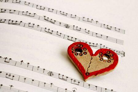 sheetmusic: Heart and notes