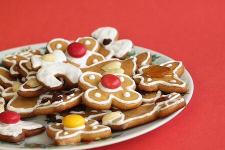 Christmas  gingerbread on a plate Stock Photo