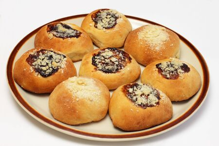 Traditional homemade yeast buns from Central Europe photo