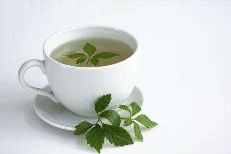 Jiaogulan tea  /Gynostemma pentphyllum/ Jiao Gu Lan  is called   Stock Photo