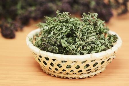 Dried herbs wild thyme and oregano