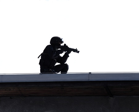 Sniper in action photo