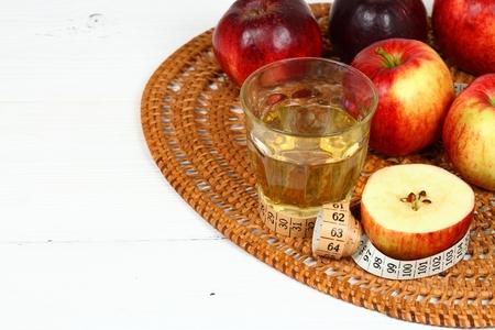 Apple vinegar good for diet. Reklamní fotografie