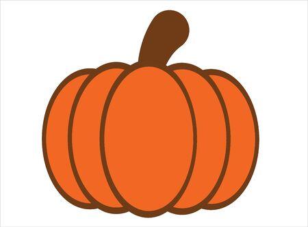 Simple pumpkin vector or illustration Archivio Fotografico - 130779785