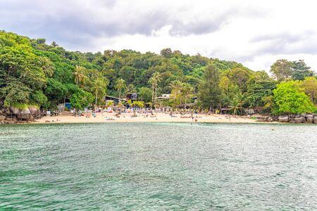 Paradise Beach in Phuket, Thailand. Famous tourist attraction. Tropical Beach. Perfect summer getaway. Редакционное