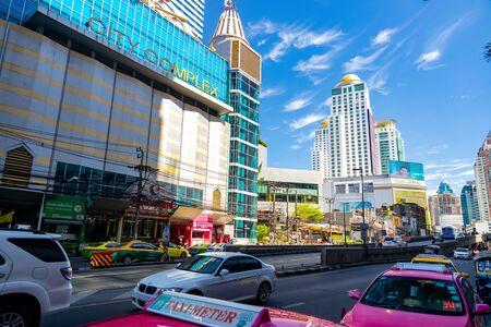 Bangkok, Thailand - November 29 2019: Pratunam Shopping Market Area in Bangkok.