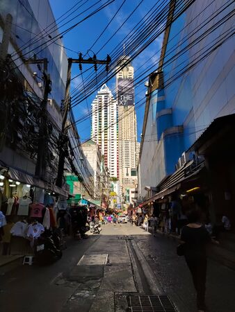 Bangkok, Thailand - November 29 2019: Baiyoke Sky Tower Hotel in Bangkok. Tallest Building in the city. 84 floors.
