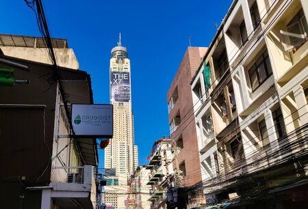 Bangkok, Thailand - November 30 2019: Baiyoke Sky Tower Hotel in Bangkok. Tallest Building in the city. 84 floors.
