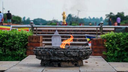 Eternal Peace Flame at Lumbini Premises in Nepal.