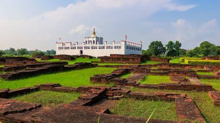 Ancient Ruins of Maya Devi Temple in Lumbini, Nepal. Birth Place of Gautama Buddha and Fountain of Buddhism.
