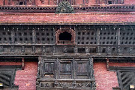 Ancient temples at Patan Durbar Square, Nepal. Фото со стока