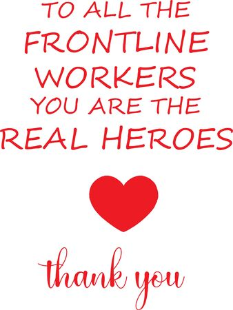 Appreciation message for Front line workers during Coronavirus COVID-19 Pandemic vector illustration