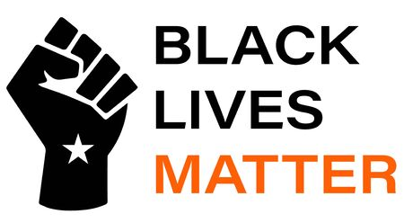 Black Lives Matter (BLM) graphic illustration for use as poster to raise awareness about racial inequality. police brutality and prejudice against African . Ilustración de vector