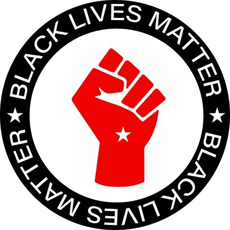 Black Lives Matter (BLM) graphic illustration for use as poster to raise awareness about racial inequality. police brutality and prejudice against African .