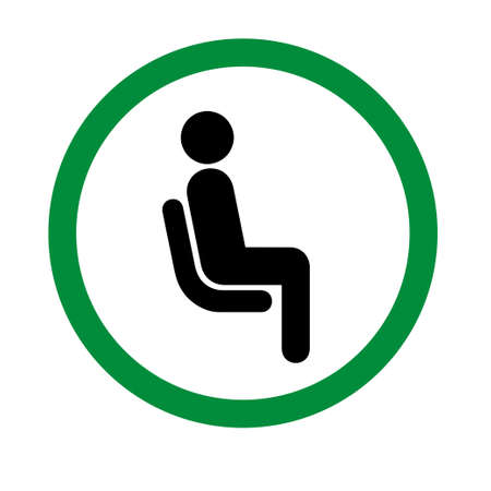 Please Dont Use This Seat or Please Don't Sit Here printable pictogram for public places.