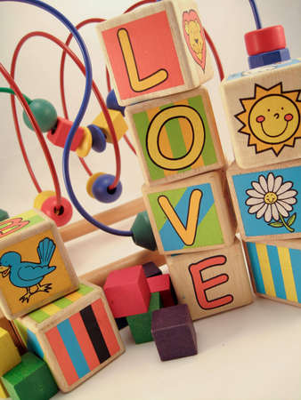Love Blocks Stock Photo