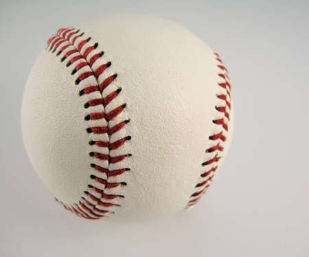 hardball: White on White Hardball Stock Photo