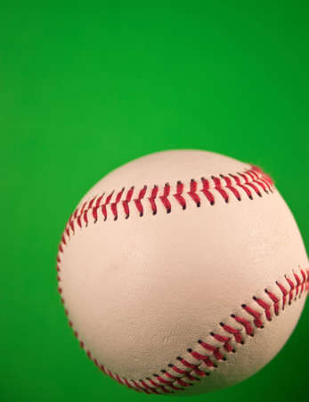 A close up of a new baseball with a green screen. Stock Photo - 5100110