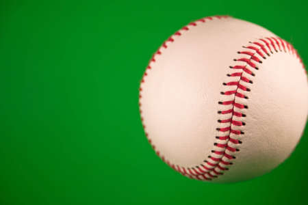 A close up of a new baseball with a green screen. Stock Photo - 5100109