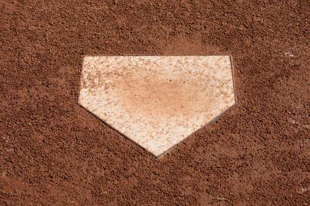 A close up of home plate on a baseball diamond. Stock Photo - 5749700