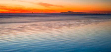 huntington beach: Huntington Beach to a sunset over Palos Verdes